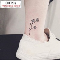 2017 NEW 500 Models waterproof temporary tattoo tatoo henna fake flash tattoo stickers tatto tattoos Bright flowers