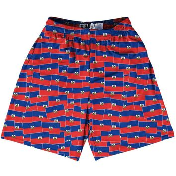 Tribe Haiti Party Flags Lacrosse Shorts