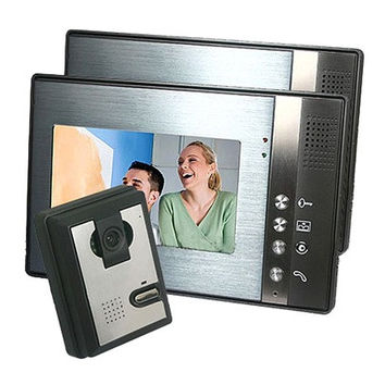 SY802M-2 Home Security Video Door Phone Intercom with Outdoor Camera and 2 Monitors