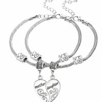 Mother Daughter Love Heart Bracelets Family Gifts