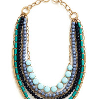 ModCloth Boho Fly Me to the Lagoon Necklace in Shoreline