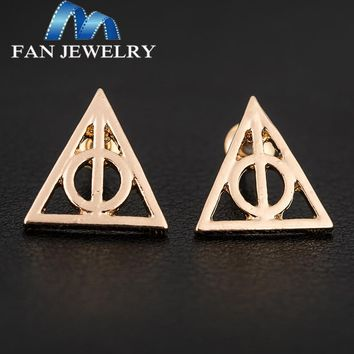 2014New  Christmas gifts Harry  deathly hallow stud earrings EH822