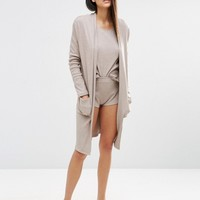 ASOS LOUNGE Ribbed Midi Robe