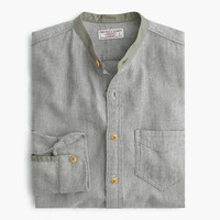 J.Crew Mens Wallace & Barnes Flannel Band-Collar Shirt