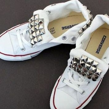Studded Custom Converse Chuck Taylor Sneakers.