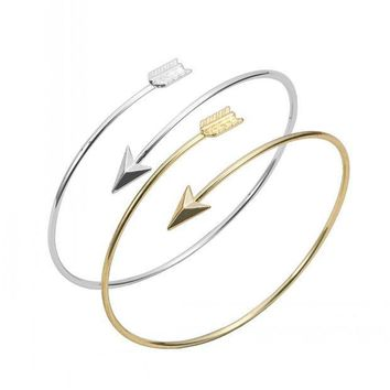 ESBU3C Classic  Adjustable Arrow Bracelets & Bangles for Women Gold Wrapped Arrow Wire Cuff Bangles Party Gift Female  EY-G016