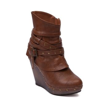 Womens Not Rated Small Catch Wedge Bootie