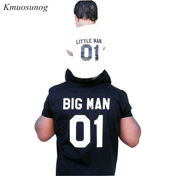 New Family Look Summer BIG MAN and LITTLE MAN Pattern Family Men Boy t shirt Father and Son Clothes Top Tee 2019 T-shirt C0377