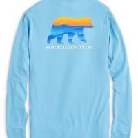 Southern Tide Blue Ridge Bear L/S Tee - Ocean Channel