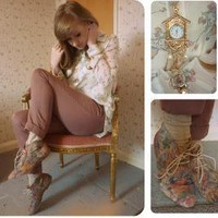 Cuckoo Clock Necklace, Urban Outfitters Watch, River Island Boots, Topshop Trousers //    You pick a colour and ill sing it for you. by Hannah Rose // LOOKBOOK.nu