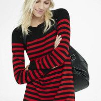 Black And Red Striped Sweater Dress from EXPRESS