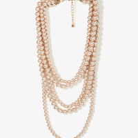 Layered Pearlescent Necklace