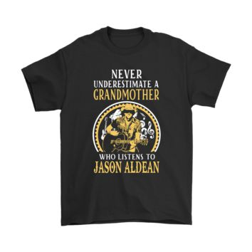 ESBV4S Never Underestimate A Grandmother Who Listens To Jason Aldean Shirts