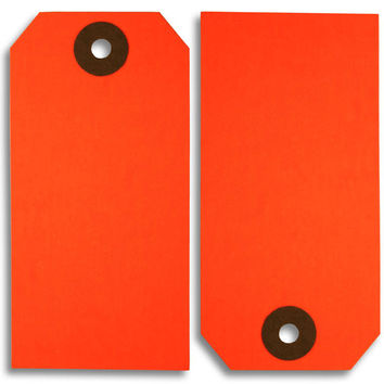 Fluorescent Red Paper Tags