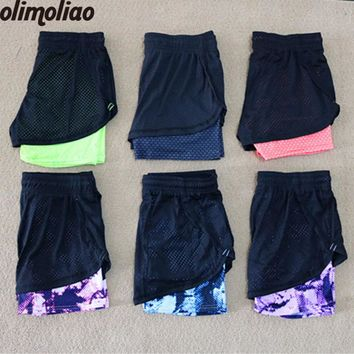 Yoga Shorts Women Sport Fitness  2 In 1 Women Athletic Shorts Cool Ladies Sport Running Short Fitness Clothes Jogging