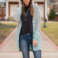 Something About You Cardigan, Seafoam