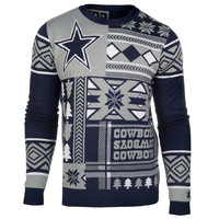 "Dallas Cowboys Official Men's NFL ""Ugly Sweater"" - Choose your Style!"