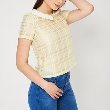 Peter Pan Collar Yellow Top