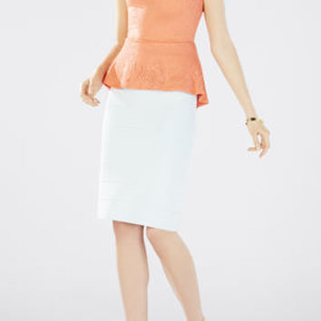 BCBG Peplum Lyna Sleeveless Top