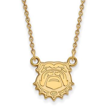 NCAA 14k Gold Plated Silver U of Georgia Small Pendant Necklace