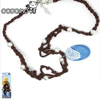 the Princess Moana Anime Actions Figure Toys Moana Necklace with Rope and Blue Stone for Kids Birthday Party Gift Supplies