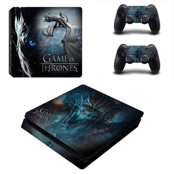 Game of Thrones for PS4 Slim Skin Sticker Cover For Sony Playstation 4 Slim Console&Controllers Skins