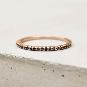 Eternity Ring - Rose Gold with Black