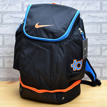 NIKE KD ELITE BACKPACK BLACK OKC THUNDER KEVIN DURANT HOOPS BAG 4 bhm BZ9421-048