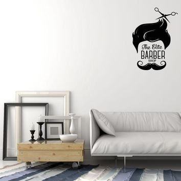 Vinyl Decal Wall Sticker Hipster Decor for Barber Shop Hair Cut Beauty Unique Gift (g087)