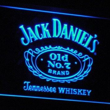 Jack Daniel's Whiskey LED Neon Sign Blue