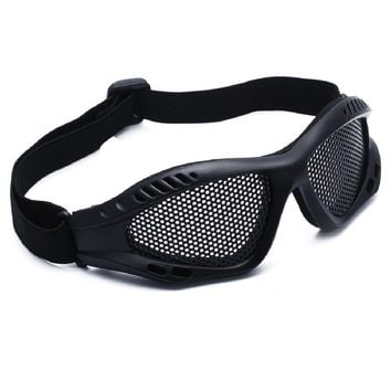 Hot Sell Outdoor Eye Protection Comfortable Airsoft Safety Tactical Glasses Goggles Anti Fog With Metal Mesh