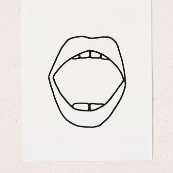 Cult Paper Mouth Art Print - Urban Outfitters