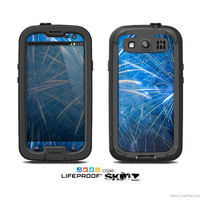 The Blue Fireworks Skin For The Samsung Galaxy S3 LifeProof Case