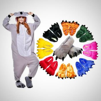 Adult Animal Pajamas with Soft Paw Shoe