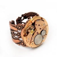 Petit Benrus - Steampunk Ring | Antige - Jewelry on ArtFire