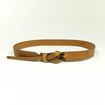Simple Camel Leather Belt