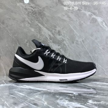 hcxx N1217 Nike Air Zoom 2019 Structure shield Mesh breathable running shoes Black sliver