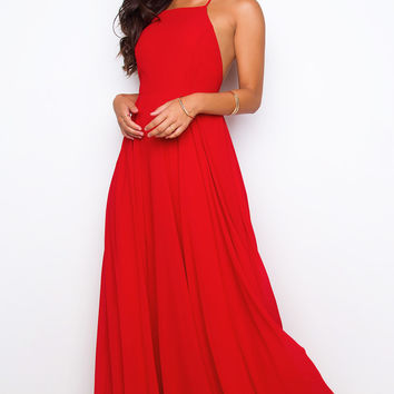 Aurora Maxi Dress - Red