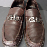 SALVATORE FERRAGAMO Brown Loafer Men's Shoes Size 11.5