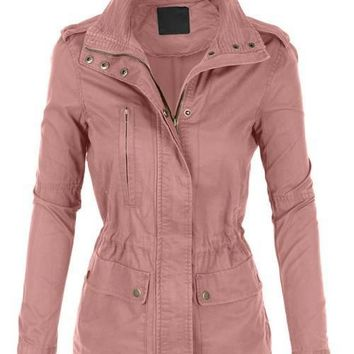 Taupe Tailored Pocket Military Jacket