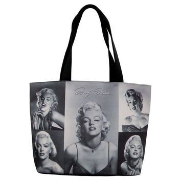 Marilyn Monroe Signature Picture Collage Tote Shoulder Bag Purse