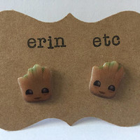 Handmade Plastic Fandom Earrings - Movie - Baby Tree