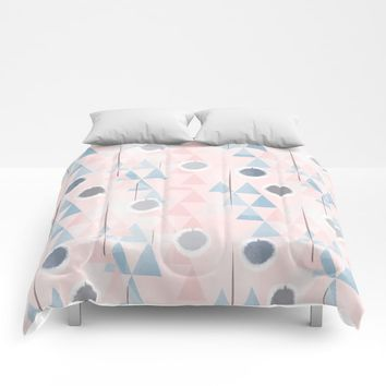 Peaks and Pools Comforters by mirimo