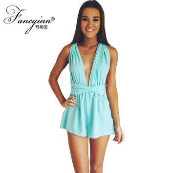 Fancy Summer Beach Fashion One Piece Bodysuit 5 Colors