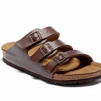 Men's and Women's BIRKENSTOCK sandals Florida Soft Footbed Birko-Flor 632632288-056