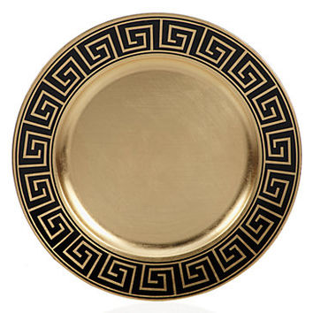 Greek Key Charger - Set of 4 | Dinnerware | Tabletop-and-bar | Z Gallerie