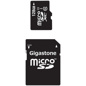 Gigastone Class 10 Uhs-1 Microsdhc Cards & Sd Adapter (128gb)