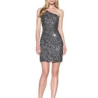 Adrianna Papell Women's One Shoulder Sequined Dress at MYHABIT