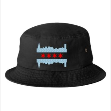 Chicago Flag  - Bucket Hat