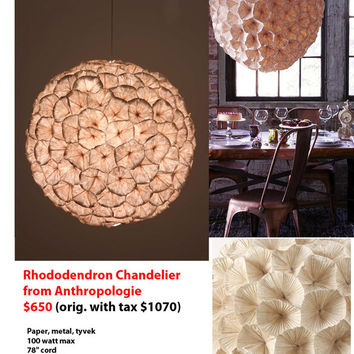 Rhododendron Chandelier (anthropologie)